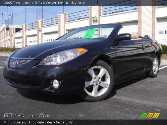 black 2005 toyota solara sle v6 convertible ivory. Black Bedroom Furniture Sets. Home Design Ideas