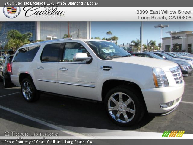 White Diamond 2010 Cadillac Escalade ESV with Ebony interior 2010 Cadillac