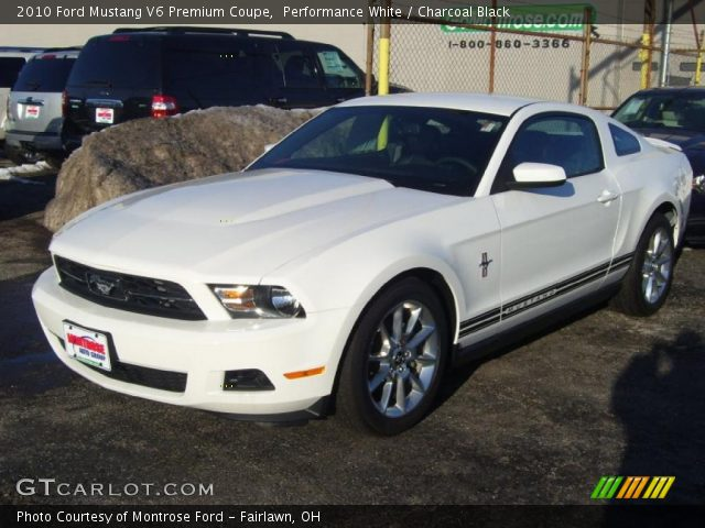 2010 ford mustang v6 premium coupe in performance white click to see. Black Bedroom Furniture Sets. Home Design Ideas