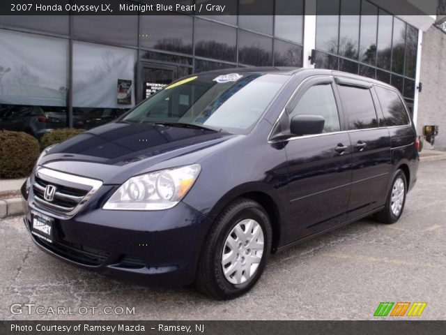 midnight blue pearl 2007 honda odyssey lx gray. Black Bedroom Furniture Sets. Home Design Ideas