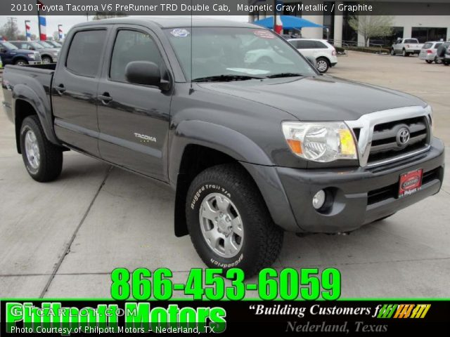 magnetic gray metallic 2010 toyota tacoma v6 prerunner trd double cab graphite interior. Black Bedroom Furniture Sets. Home Design Ideas