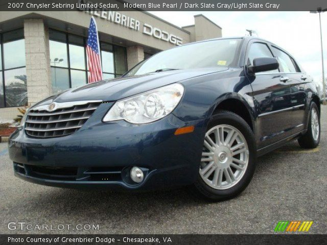 modern blue pearl 2007 chrysler sebring limited sedan. Black Bedroom Furniture Sets. Home Design Ideas