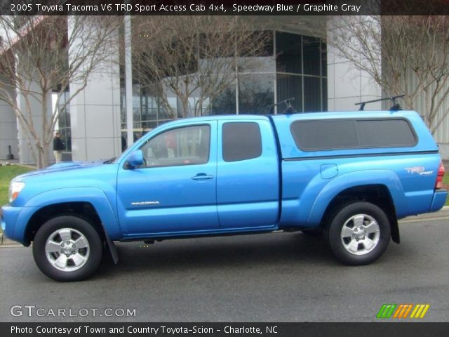 speedway blue 2005 toyota tacoma v6 trd sport access cab. Black Bedroom Furniture Sets. Home Design Ideas