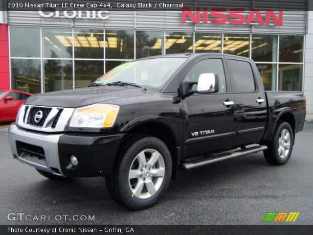 galaxy black 2010 nissan titan le crew cab 4x4. Black Bedroom Furniture Sets. Home Design Ideas