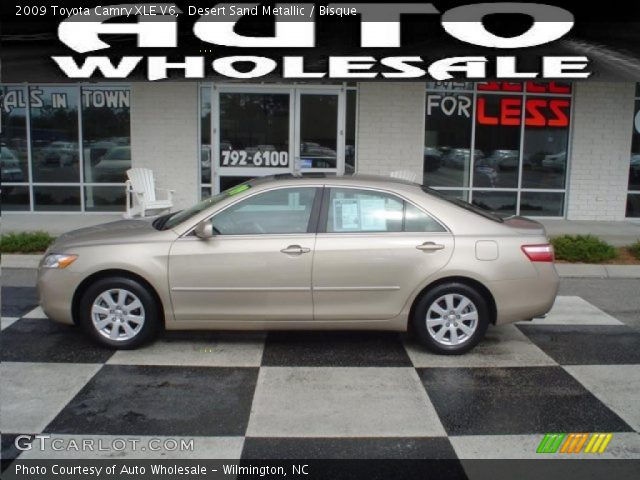 desert sand metallic 2009 toyota camry xle v6 bisque interior vehicle. Black Bedroom Furniture Sets. Home Design Ideas