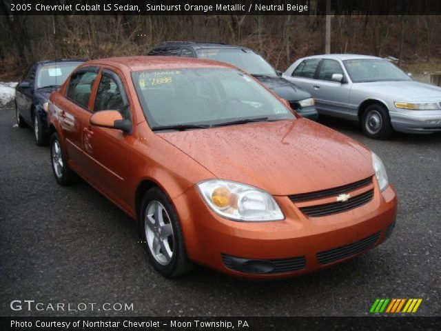 sunburst orange metallic 2005 chevrolet cobalt ls sedan. Black Bedroom Furniture Sets. Home Design Ideas