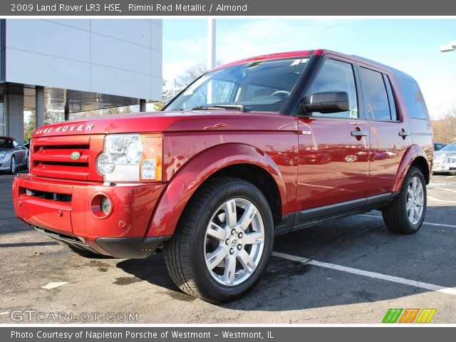 rimini red metallic 2009 land rover lr3 hse almond. Black Bedroom Furniture Sets. Home Design Ideas