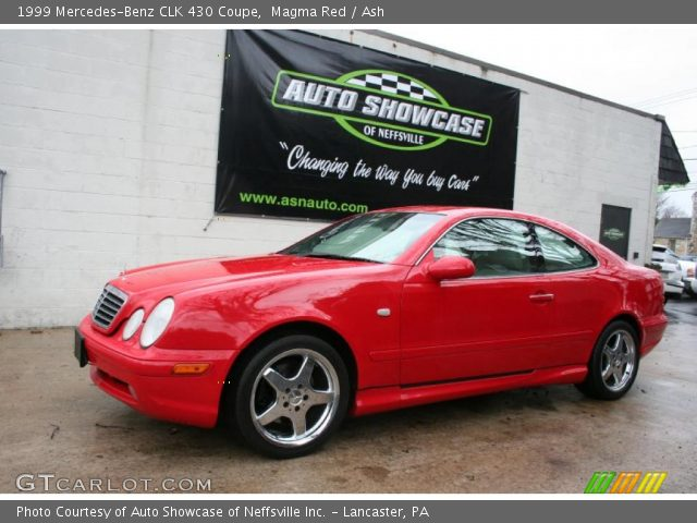 Magma red 1999 mercedes benz clk 430 coupe ash for 1999 mercedes benz clk 430