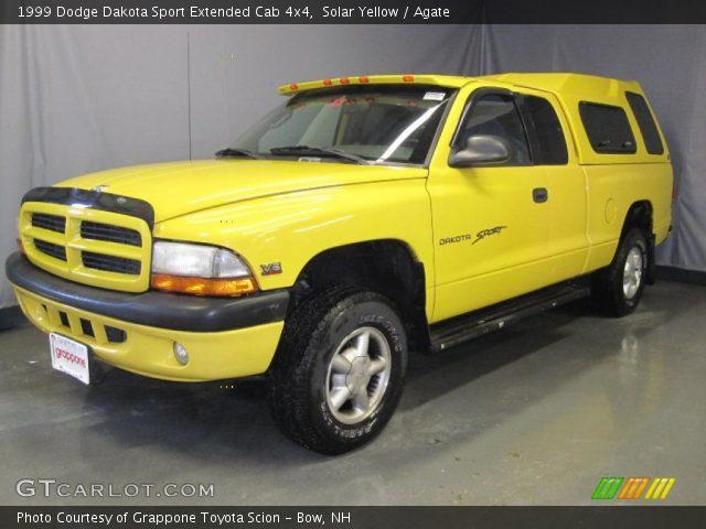 solar yellow 1999 dodge dakota sport extended cab 4x4. Black Bedroom Furniture Sets. Home Design Ideas