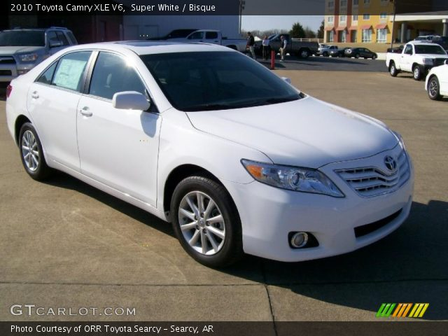 super white 2010 toyota camry xle v6 bisque interior vehicle archive 27169199. Black Bedroom Furniture Sets. Home Design Ideas