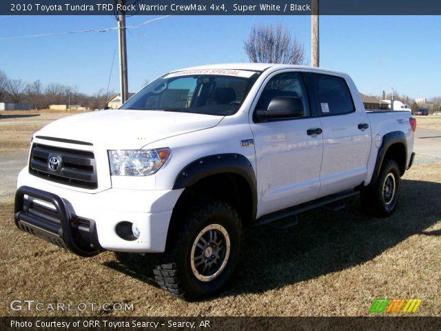 Super White 2010 Toyota Tundra TRD Rock Warrior CrewMax 4x4 with Black