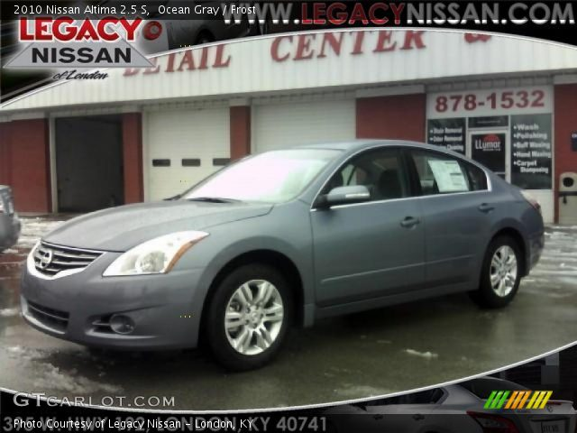 Ocean Gray 2010 Nissan Altima 2 5 S Frost Interior Vehicle Archive 27168663