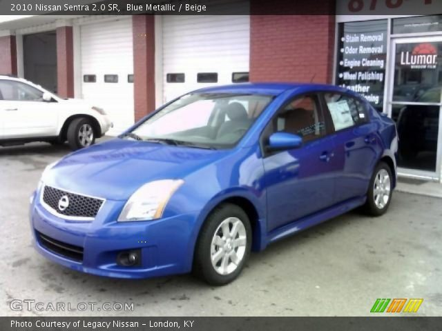 blue metallic 2010 nissan sentra 2 0 sr beige interior vehicle archive. Black Bedroom Furniture Sets. Home Design Ideas