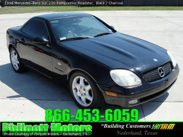 black 1998 mercedes benz slk 230 kompressor roadster charcoal interior. Black Bedroom Furniture Sets. Home Design Ideas