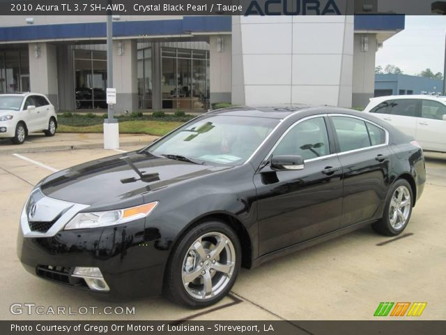 crystal black pearl 2010 acura tl 3 7 sh awd taupe. Black Bedroom Furniture Sets. Home Design Ideas