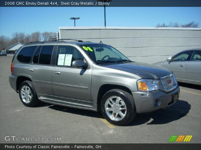steel gray metallic 2008 gmc envoy denali 4x4 ebony. Black Bedroom Furniture Sets. Home Design Ideas
