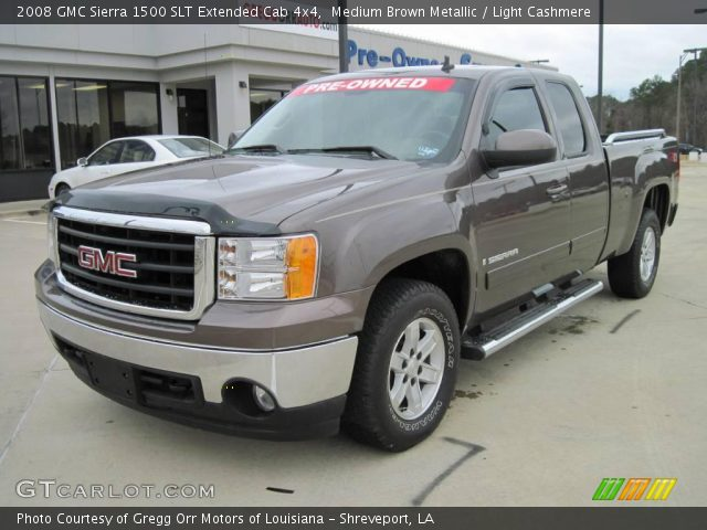 medium brown metallic 2008 gmc sierra 1500 slt extended. Black Bedroom Furniture Sets. Home Design Ideas