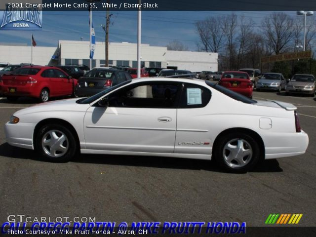 white 2001 chevrolet monte carlo ss ebony black interior vehicle archive. Black Bedroom Furniture Sets. Home Design Ideas