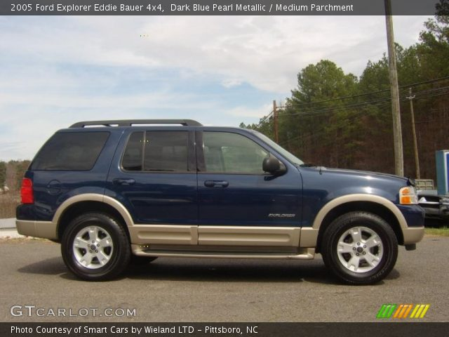 dark blue pearl metallic 2005 ford explorer eddie bauer 4x4 medium parchment interior. Black Bedroom Furniture Sets. Home Design Ideas