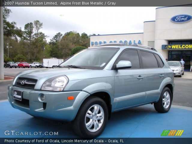 alpine frost blue metallic 2007 hyundai tucson limited. Black Bedroom Furniture Sets. Home Design Ideas