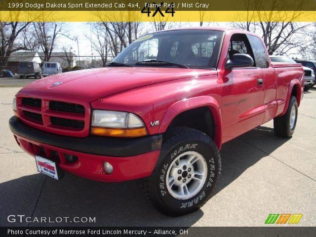 flame red 1999 dodge dakota sport extended cab 4x4. Black Bedroom Furniture Sets. Home Design Ideas