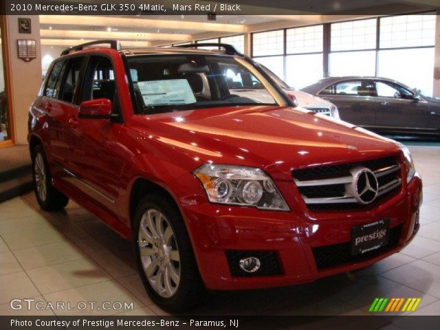 Mars Red 2010 Mercedes Benz Glk 350 4matic Black