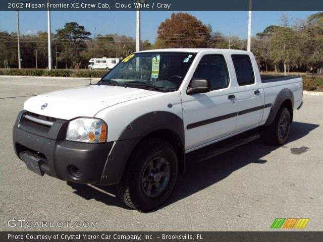 Cloud White 2002 Nissan Frontier Xe Crew Cab Gray Interior Vehicle Archive