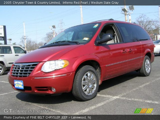 inferno red pearl 2005 chrysler town country limited medium slate gray interior gtcarlot. Black Bedroom Furniture Sets. Home Design Ideas