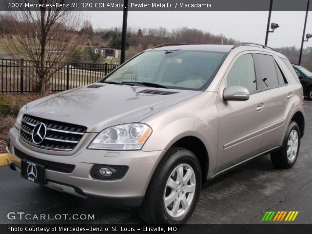 pewter metallic 2007 mercedes benz ml 320 cdi 4matic macadamia interior. Black Bedroom Furniture Sets. Home Design Ideas