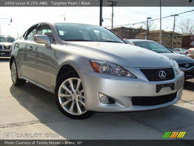 tungsten pearl 2009 lexus is 250 awd black interior vehicle archive 27325352. Black Bedroom Furniture Sets. Home Design Ideas