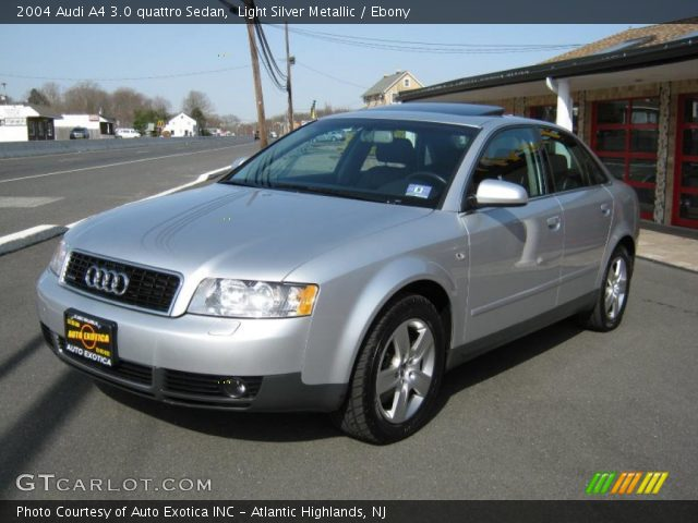 light silver metallic 2004 audi a4 3 0 quattro sedan. Black Bedroom Furniture Sets. Home Design Ideas