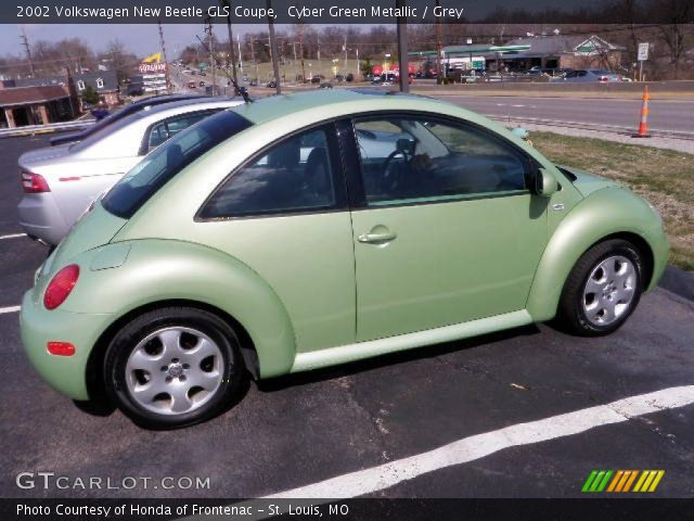 Cyber Green Metallic 2002 Volkswagen New Beetle Gls Coupe Grey Interior