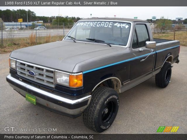1988 Ford F150 XLT Lariat Regular Cab 4x4 in Silver Metallic