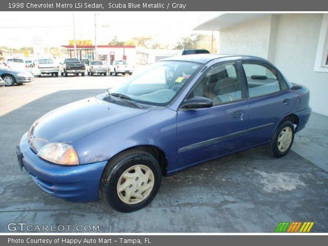 1998 chevy metro lsi 1 3 wiring scuba blue metallic - 1998 chevrolet metro lsi sedan ... #5