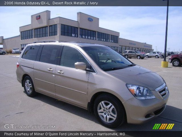 desert rock metallic 2006 honda odyssey ex l ivory. Black Bedroom Furniture Sets. Home Design Ideas