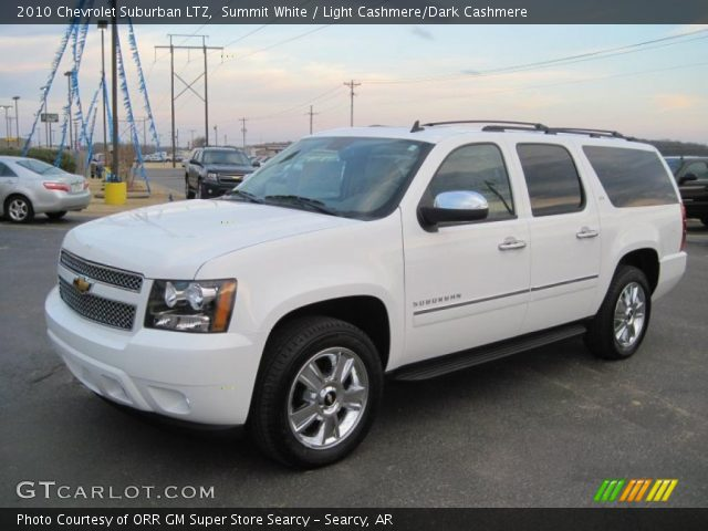 summit white 2010 chevrolet suburban ltz light cashmere dark cashmere interior gtcarlot. Black Bedroom Furniture Sets. Home Design Ideas