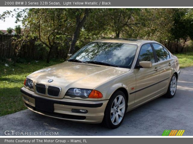 light yellow metallic 2000 bmw 3 series 328i sedan black interior vehicle. Black Bedroom Furniture Sets. Home Design Ideas