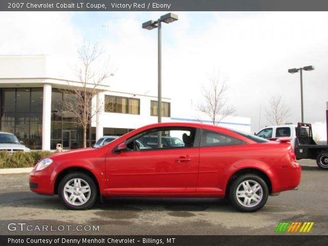 victory red 2007 chevrolet cobalt lt coupe ebony. Black Bedroom Furniture Sets. Home Design Ideas