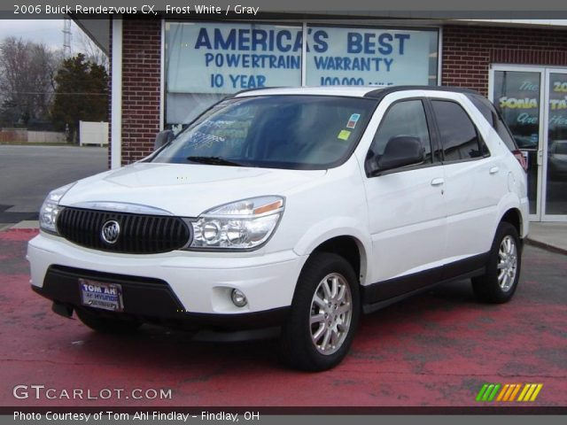 frost white 2006 buick rendezvous cx gray interior vehic. Cars Review. Best American Auto & Cars Review