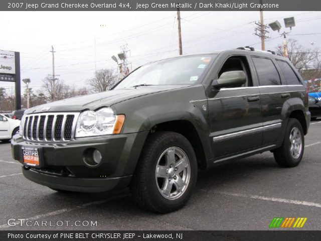 jeep green metallic 2007 jeep grand cherokee overland. Black Bedroom Furniture Sets. Home Design Ideas