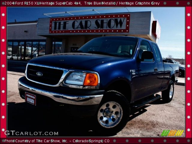 2004 Ford F150 XL Heritage SuperCab 4x4 in True Blue Metallic
