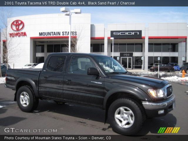 black sand pearl 2001 toyota tacoma v6 trd double cab 4x4 charcoal interior. Black Bedroom Furniture Sets. Home Design Ideas