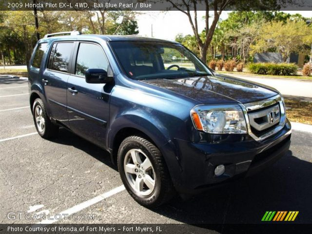 Bali Blue Pearl 2009 Honda Pilot Ex L 4wd Blue Interior Vehicle Archive