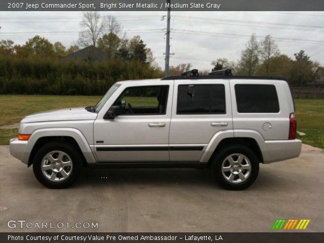 Bright Silver Metallic 2007 Jeep Commander Sport Medium Slate Gray Interior