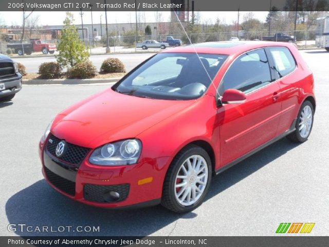 tornado red 2006 volkswagen gti 2 0t black leather. Black Bedroom Furniture Sets. Home Design Ideas