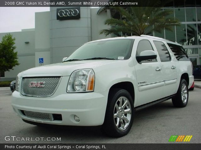 summit white 2008 gmc yukon xl denali awd cocoa light cashmere interior. Black Bedroom Furniture Sets. Home Design Ideas