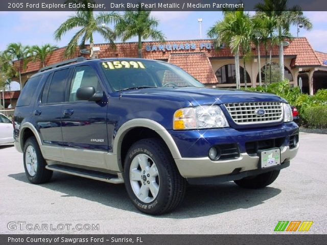dark blue pearl metallic 2005 ford explorer eddie bauer medium parchment interior gtcarlot. Black Bedroom Furniture Sets. Home Design Ideas