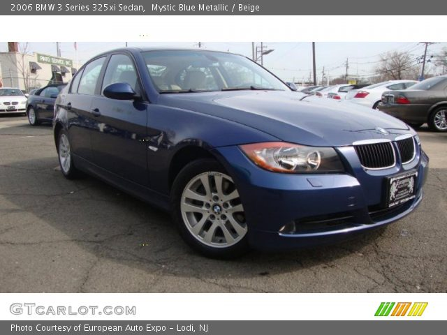 mystic blue metallic 2006 bmw 3 series 325xi sedan beige interior vehicle. Black Bedroom Furniture Sets. Home Design Ideas