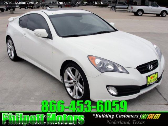 karussell white 2010 hyundai genesis coupe 3 8 track black interior vehicle. Black Bedroom Furniture Sets. Home Design Ideas