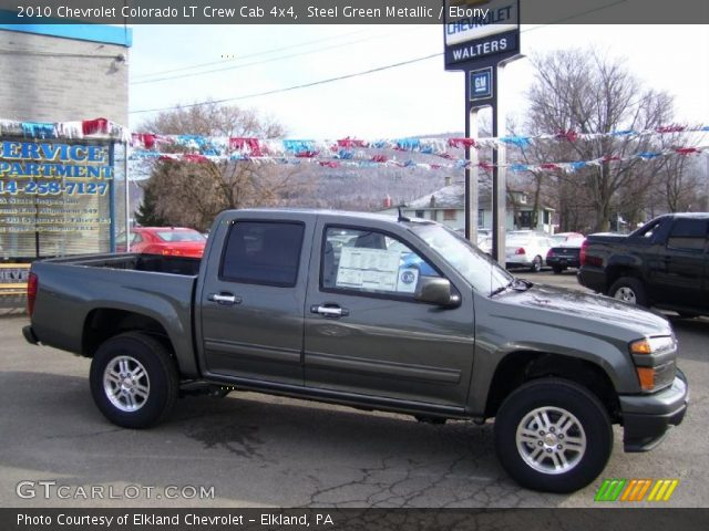 steel green metallic 2010 chevrolet colorado lt crew cab. Black Bedroom Furniture Sets. Home Design Ideas